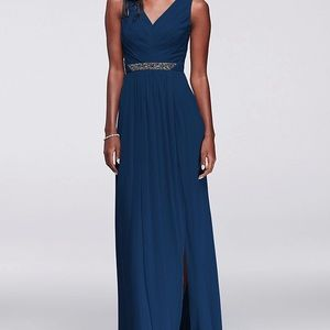David's Bridal Marine Bridesmaid Dress